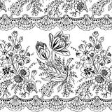 Floral Gypsy Bohemian Style Background royalty free illustration