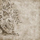 Floral Gypsy Bohemian Style Background stock illustration