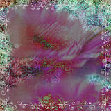 Floral Gypsy Bohemian Tapestry Scrapbook Background royalty free illustration