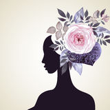 Floral hair Royalty Free Stock Images