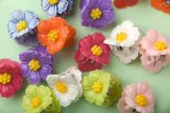 Floral hairpins Royalty Free Stock Photography