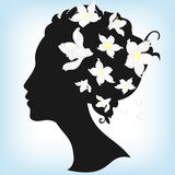 Floral hairstyle Royalty Free Stock Photos