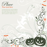Floral Halloween background Stock Photos