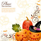 Floral Halloween background Royalty Free Stock Photos