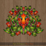 Floral hand draw element from flower leaves and berries Stock Images