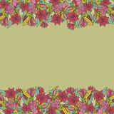 Floral hand-drawn σχέδιο Στοκ εικόνα με δικαίωμα ελεύθερης χρήσης