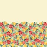 Floral hand-drawn σχέδιο Στοκ Εικόνες