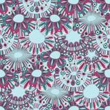 Floral hand-drawn ταπετσαρία Στοκ Εικόνες