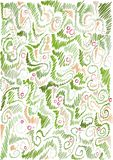 Floral hand-drawn background Stock Photography