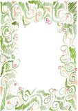 Floral hand-drawn frame Royalty Free Stock Photography