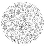 Floral hand drawn pattern Stock Photo