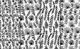 Free Floral Hand Drawn Seamless Pattern Set. Hand Drawn Abstract Fancy Flowers. Folk Hand Drawn Style. Summer Ornament Stock Photos - 96291653