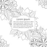 Floral hand-drawn wedding invitation. Stock Photography