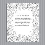 Floral hand-drawn wedding invitation. Stock Image