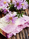 Floral Handmade Soap Stock Photo