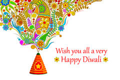 Floral Happy Diwali Royalty Free Stock Photography