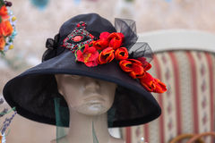 Floral hat Stock Images