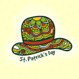 Floral Hat for St. Patrick's Day celebration. Royalty Free Stock Images