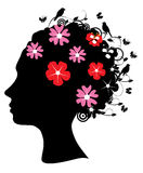 Floral head Royalty Free Stock Photography
