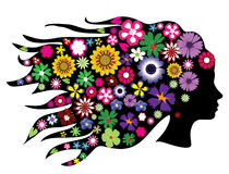Floral head vector illustration