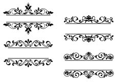 Floral headers and borders Royalty Free Stock Photography