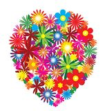 Floral heart. On white background Royalty Free Stock Images