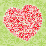 Floral Heart. Different sizes of flower graphic that form a heart Royalty Free Stock Photo