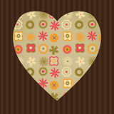 Floral heart Stock Photo