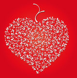 Floral heart. Vector floral ornament in the shape of a heart vector illustration