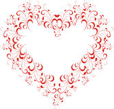 Floral heart Royalty Free Stock Photography