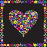 Floral heart Stock Photos