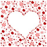 Floral heart. Illustration of valentines motive with floral background Royalty Free Stock Image