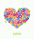 Floral heart Stock Images
