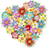 Floral heart royalty free stock photos