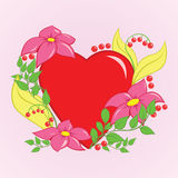 Floral Heart Stock Image