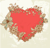 Floral heart Stock Photos