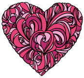 Floral heart. On white background Royalty Free Stock Photo