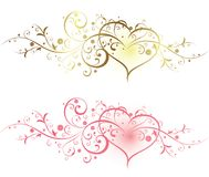 Floral and Heart royalty free illustration