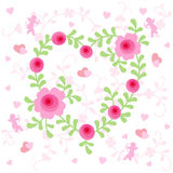 Floral Heart. Valentine's Day Floral Heart Design Stock Image