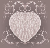 Floral heart. Heart consisting of a plant design, vector illustration Royalty Free Stock Photography