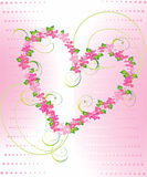 Floral heart. Shape for your design Stock Photography