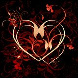 Floral heart background Royalty Free Stock Photo