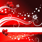 Floral Heart Background Royalty Free Stock Photos