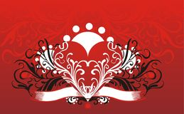 Floral heart background Royalty Free Stock Image