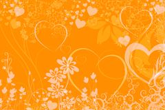 Floral and heart background Royalty Free Stock Photography