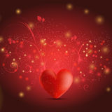 Floral heart background Stock Photography