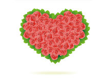 Floral Heart. Beautiful vector illustration Stock Image