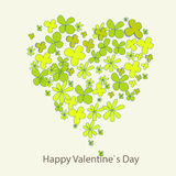 Floral heart card. Handpainted, for valentines  wedding cards, spring background, floral element Royalty Free Stock Image