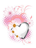 Floral heart design Stock Image