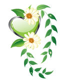 Floral heart design Royalty Free Stock Photo